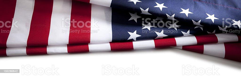 American Flag Border USA royalty-free stock photo