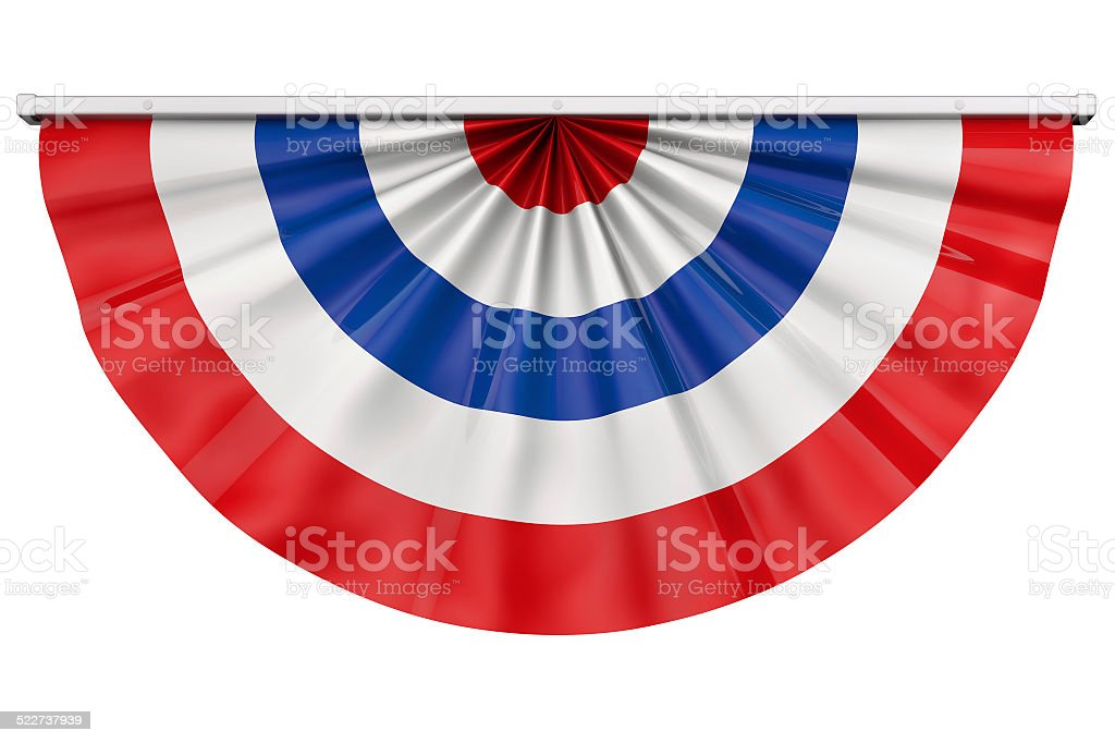 American flag bunting stock photo