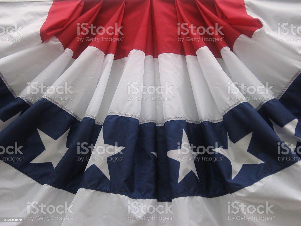 American flag bunting stock photo