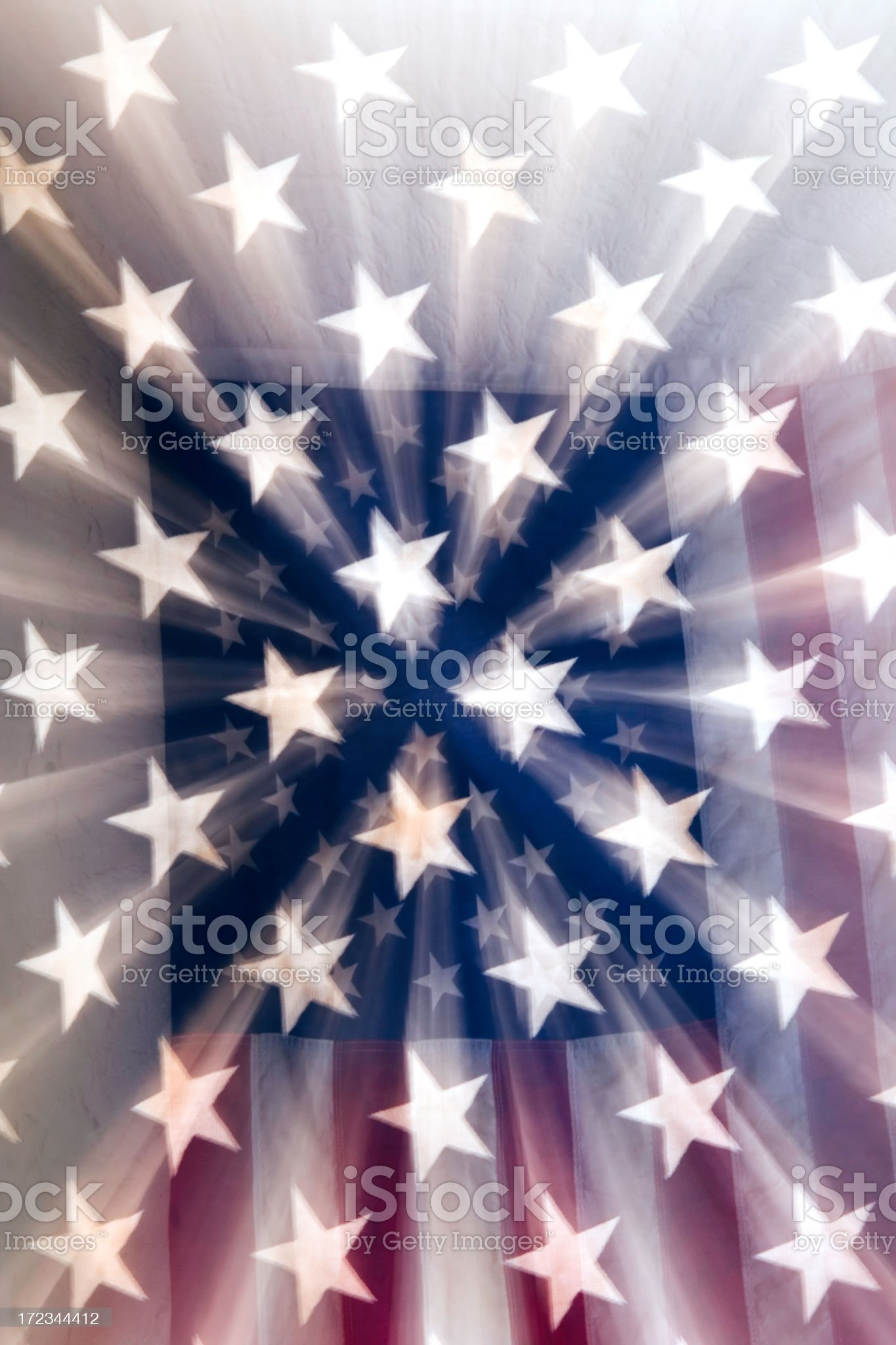 American Flag Bursting royalty-free stock photo