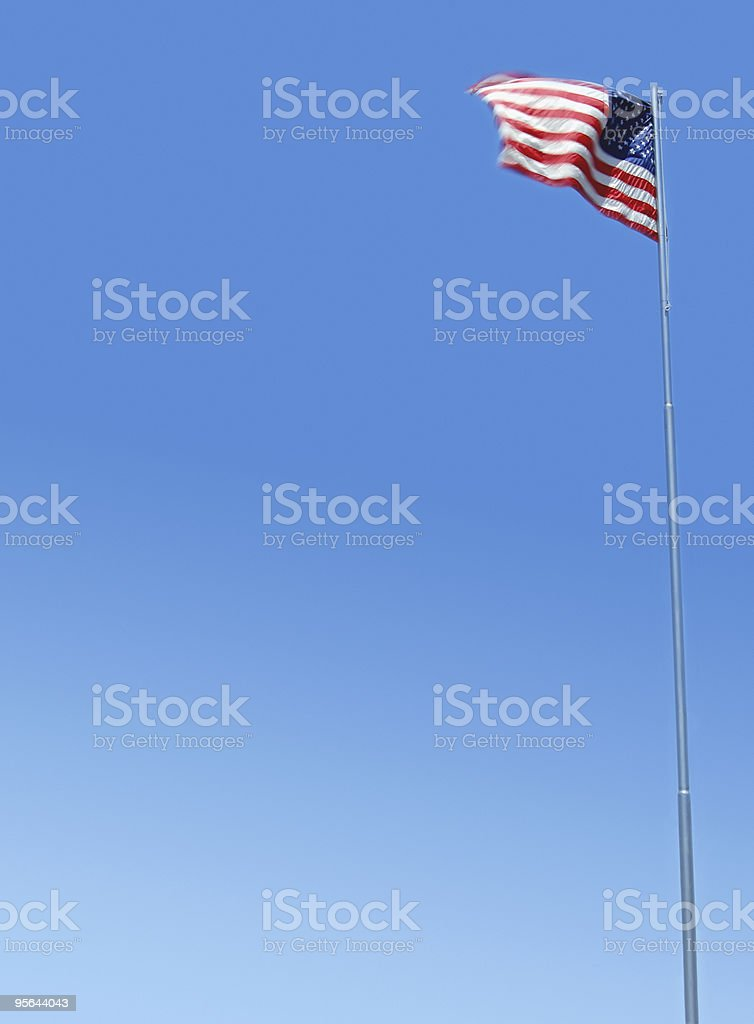 American Flag - clipping path royalty-free stock photo