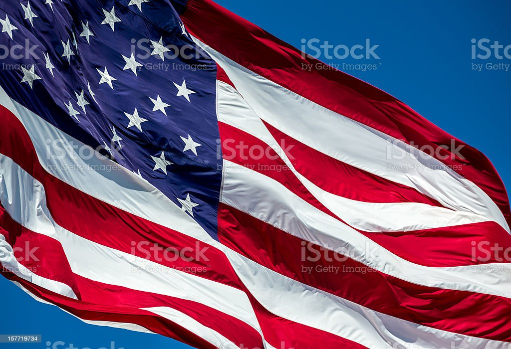 American Flag Close UP royalty-free stock photo