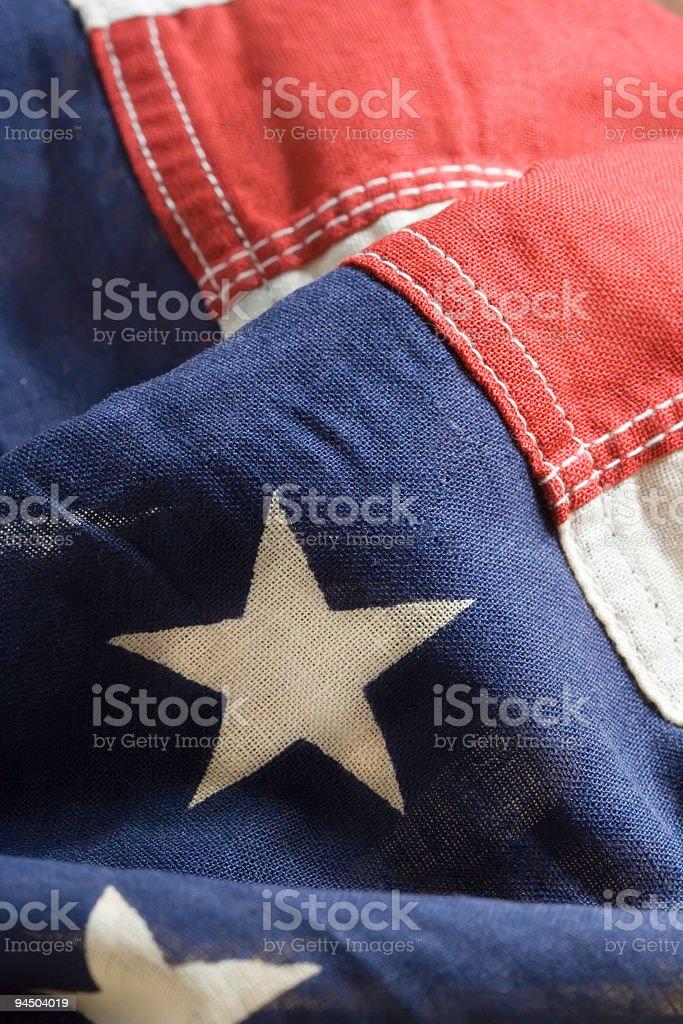 American Flag Closeup stock photo