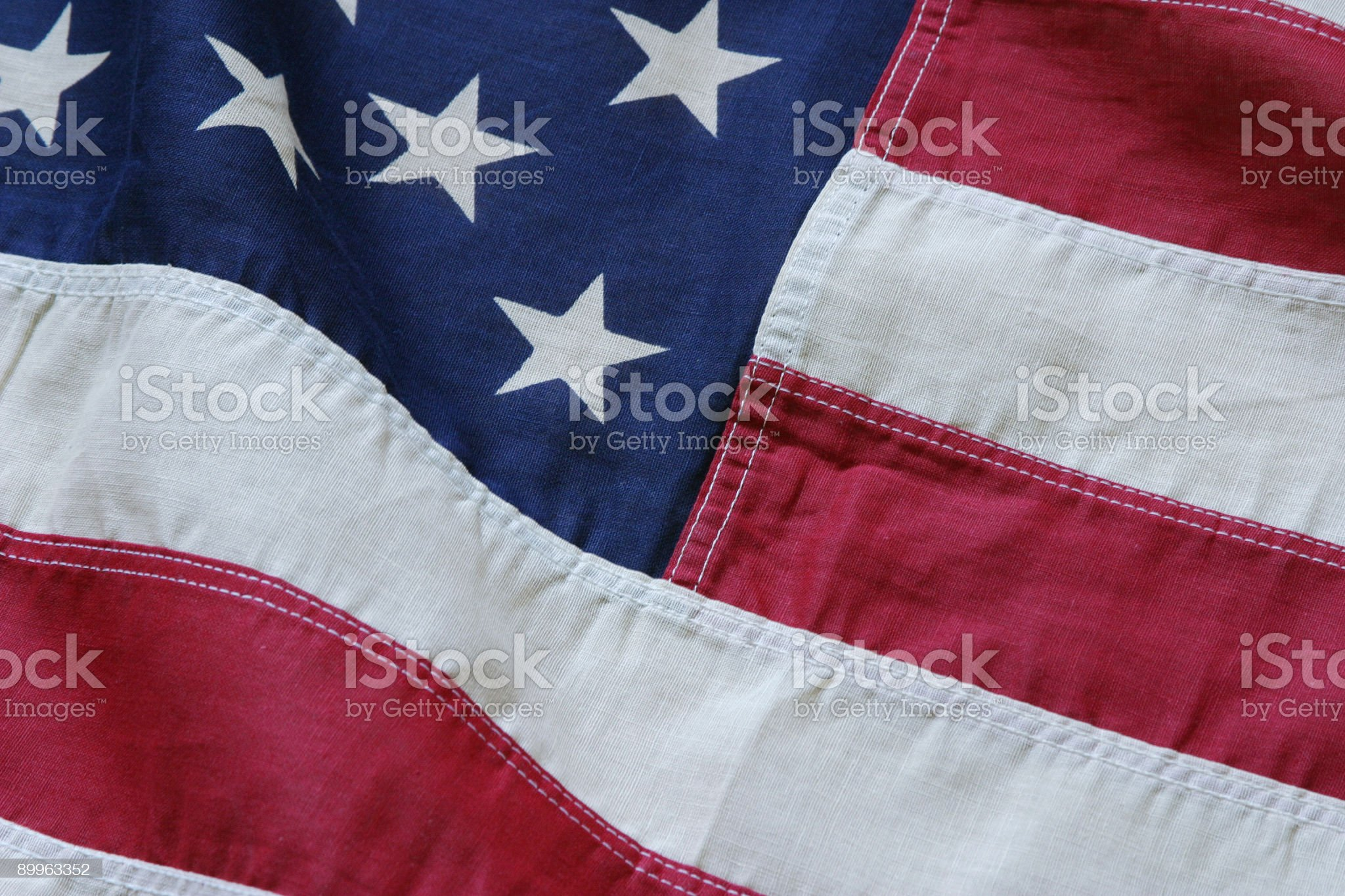 American flag detail royalty-free stock photo