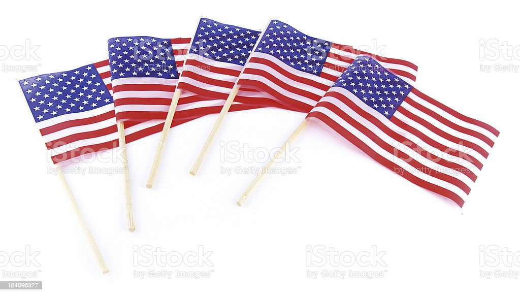 American Flag Display royalty-free stock photo