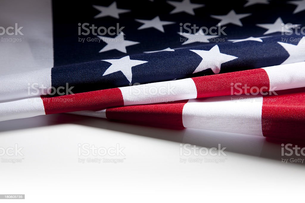 American Flag Folded royalty-free stock photo