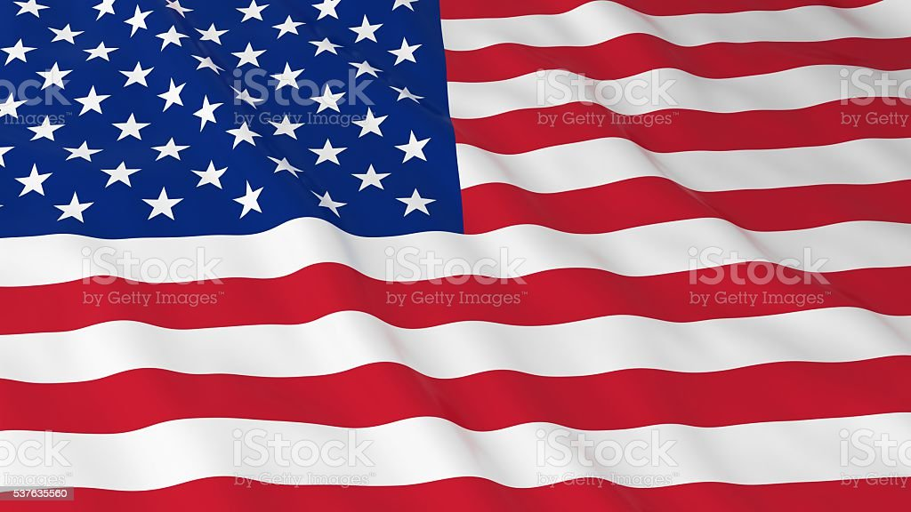 American Flag HD Background - Flag of the USA stock photo