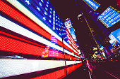 American Flag in Times Square NYC