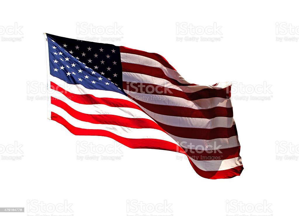American Flag Isolated ?mage stock photo