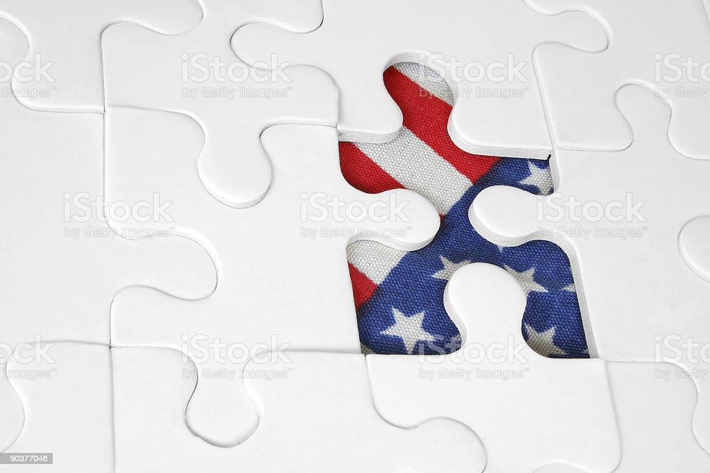 American Flag Jigsaw royalty-free stock photo
