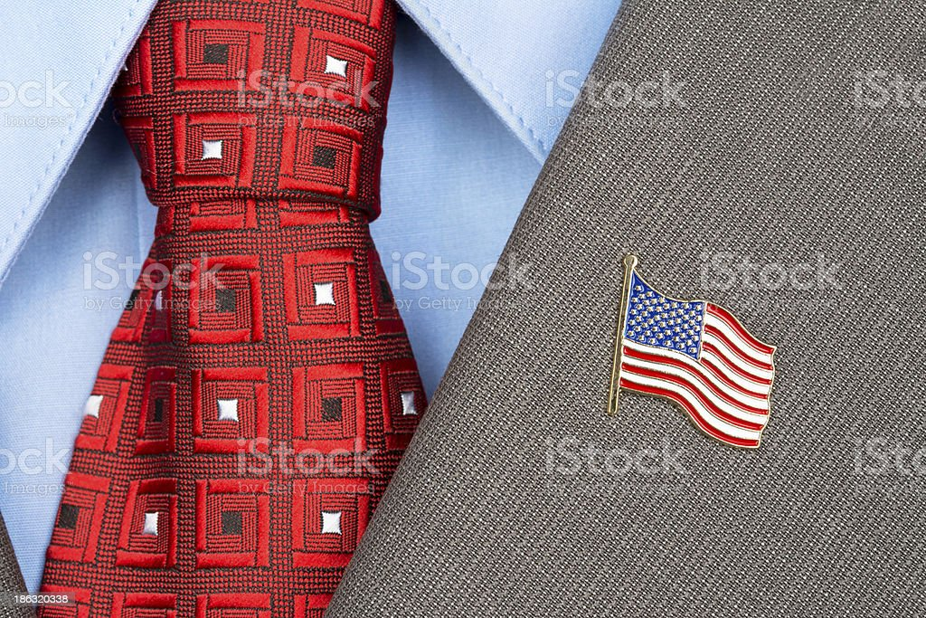 American Flag lapel Pin stock photo