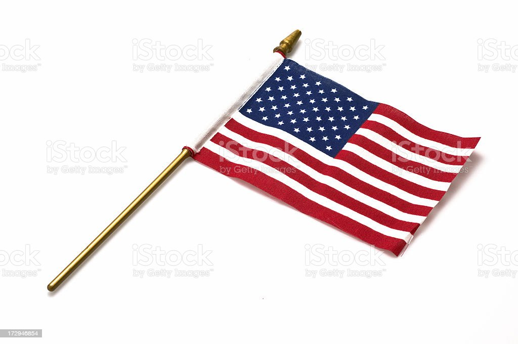 American Flag on a Stick royalty-free stock photo