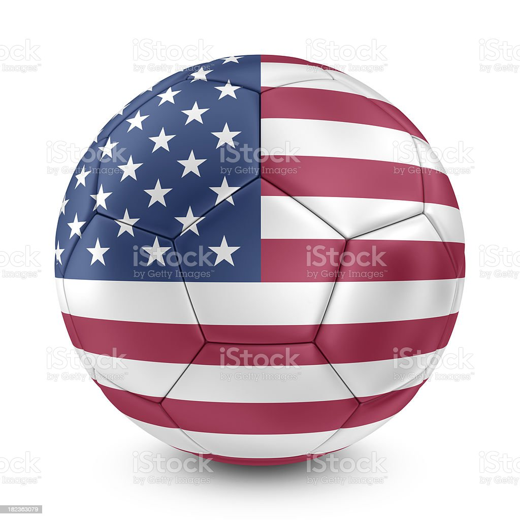 american flag on football royalty-free stock photo