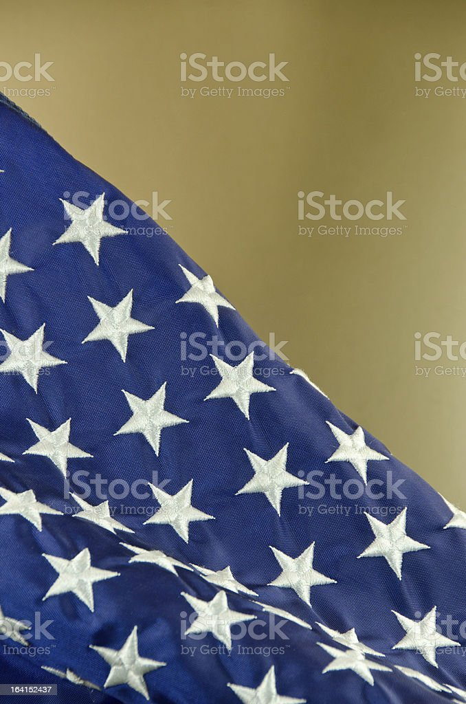 American Flag on Gold stock photo