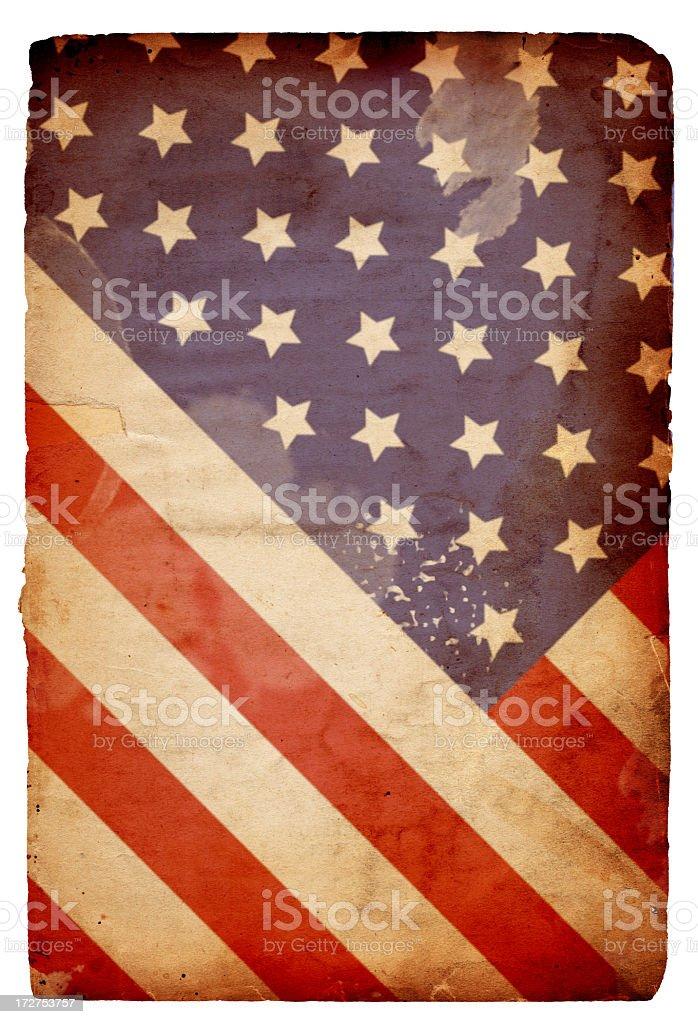 American Flag on Paper XXXL stock photo