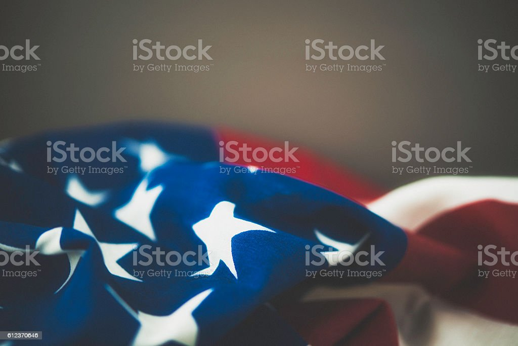 American flag on textured background for US holidays stock photo