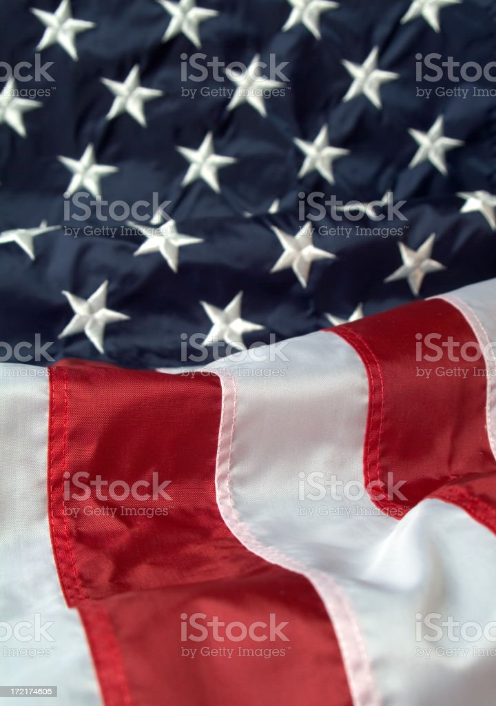 American Flag One royalty-free stock photo