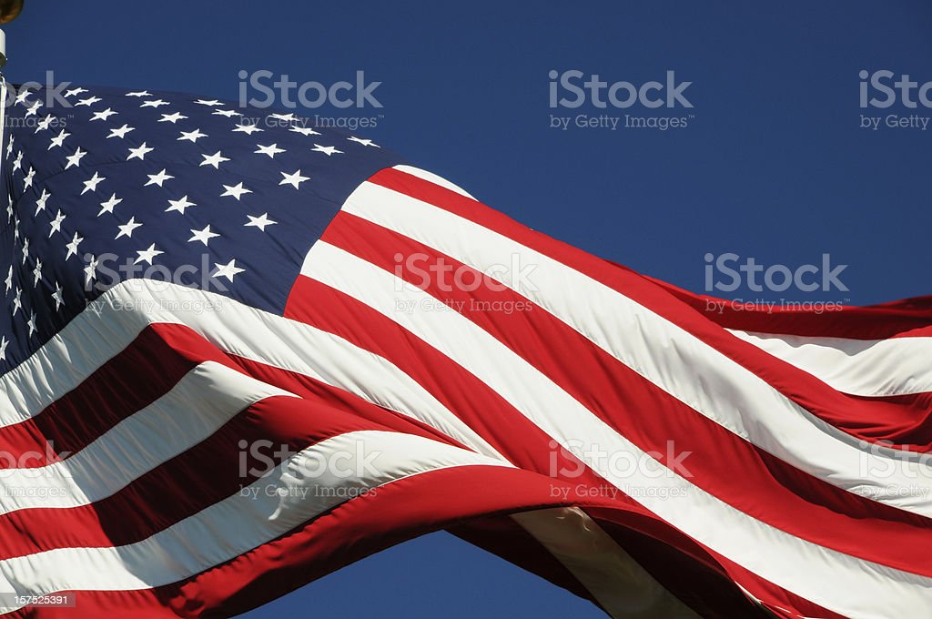 American Flag Outdoors royalty-free stock photo