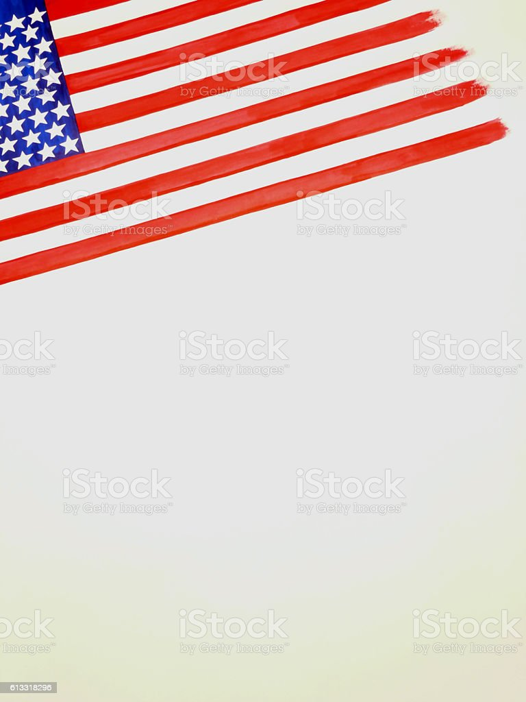 American flag pad stock photo