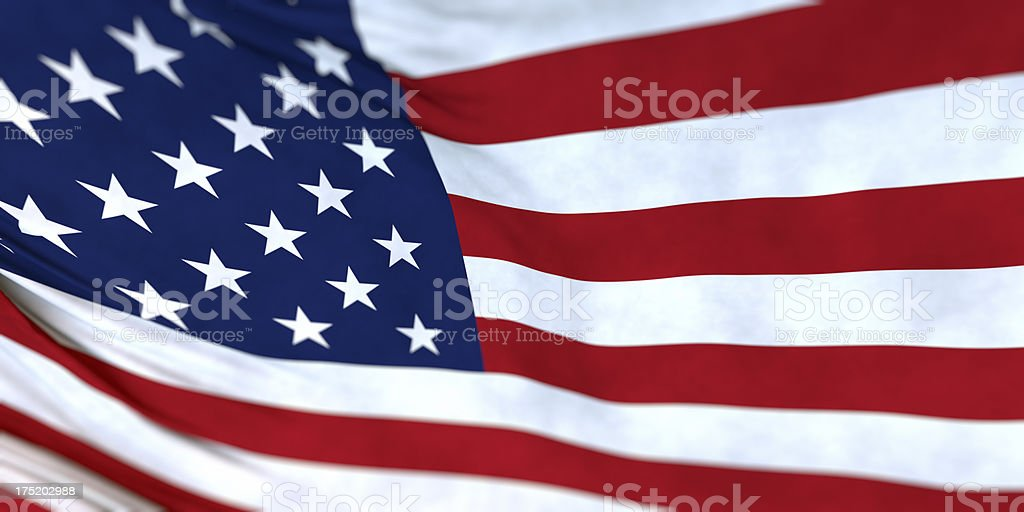 USA, American flag panoramic texture background royalty-free stock photo