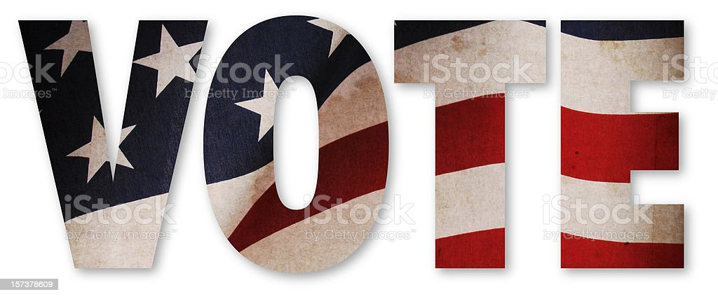 VOTE American Flag royalty-free stock photo
