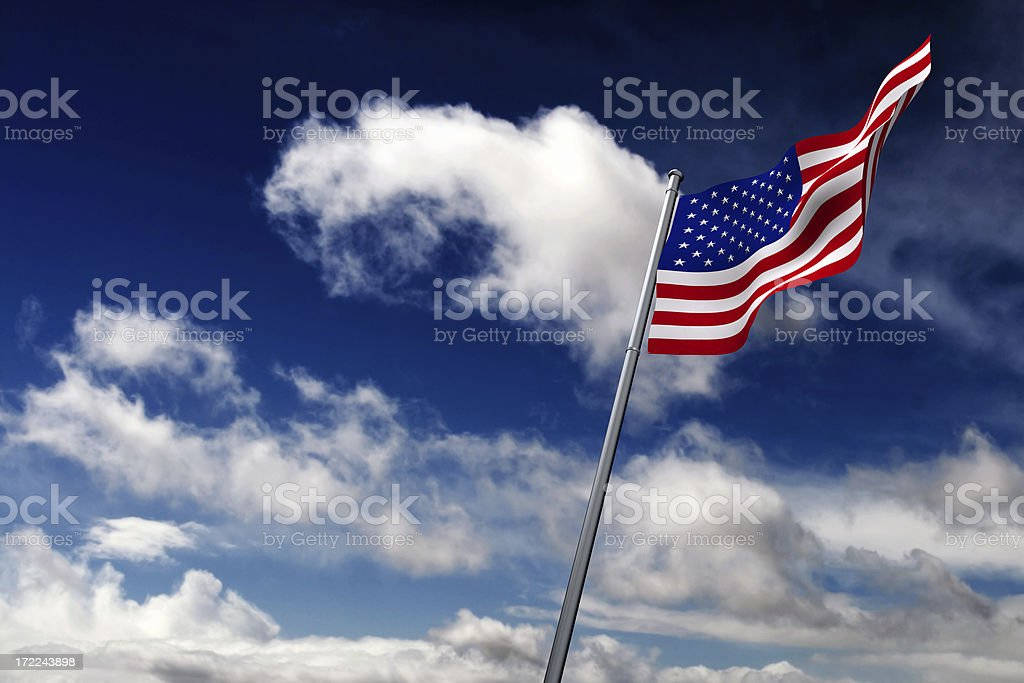 American Flag (XL) royalty-free stock photo