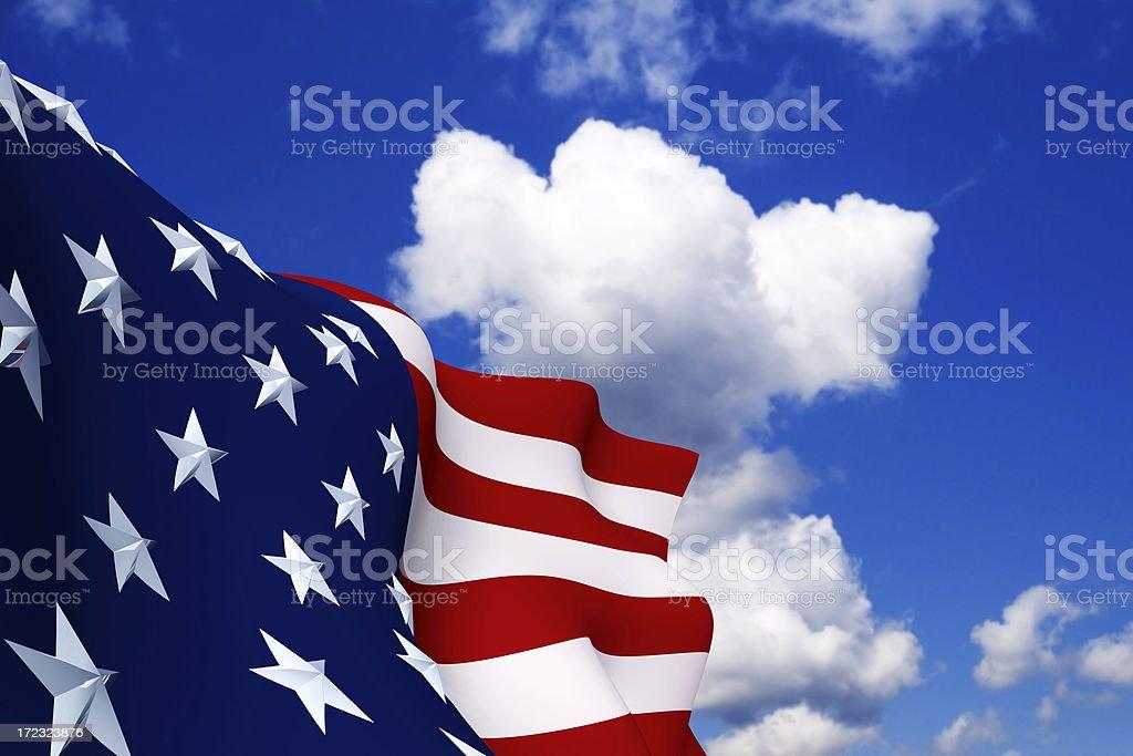 American Flag (XXL) royalty-free stock photo