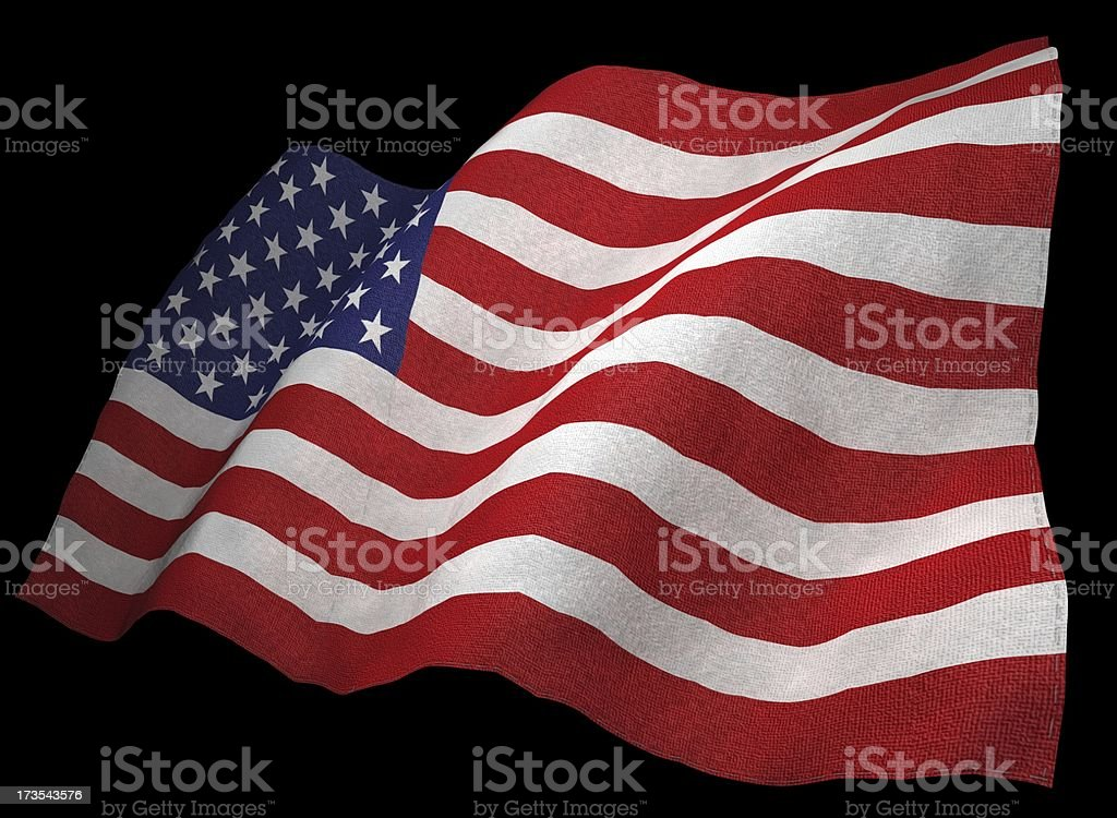 3D American Flag royalty-free stock photo