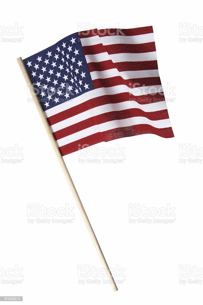 American Flag (Isolated) stock photo
