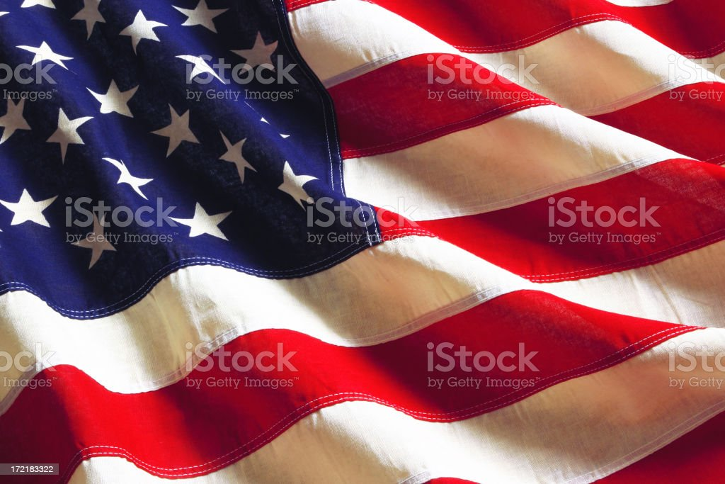 American Flag Series stock photo