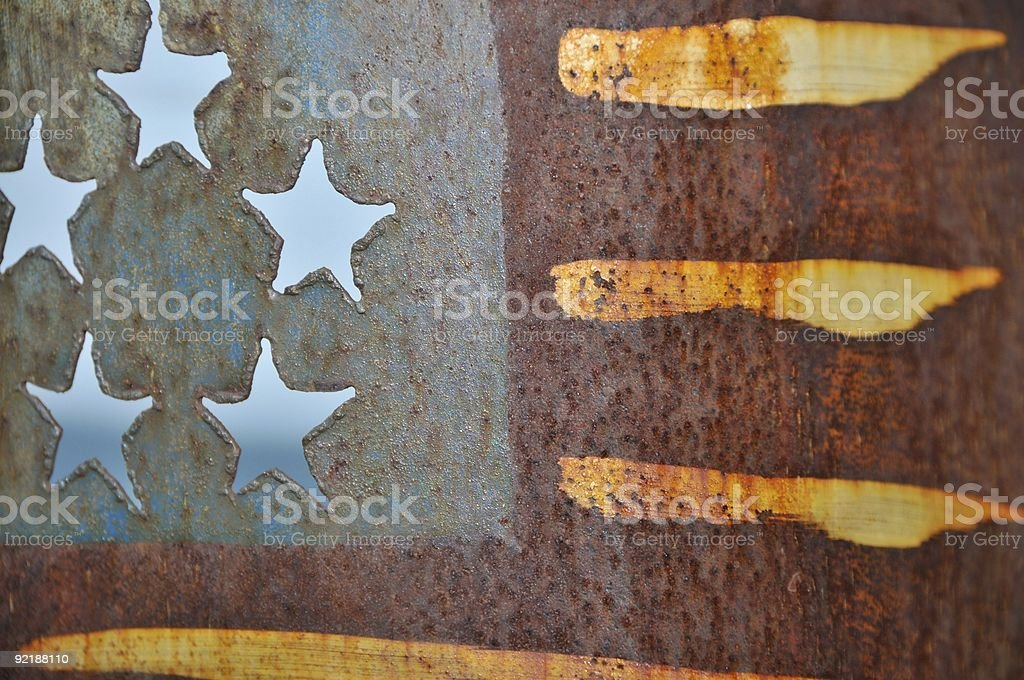 American Flag, Stamped Metal royalty-free stock photo