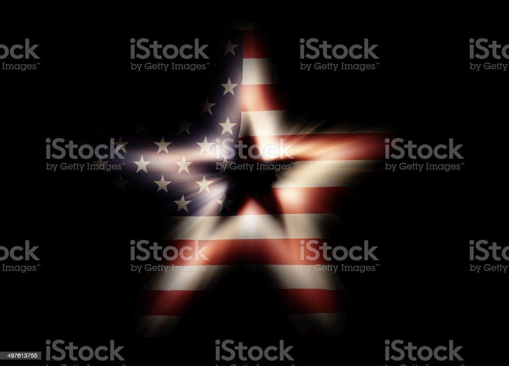 American Flag – Star Shape stock photo