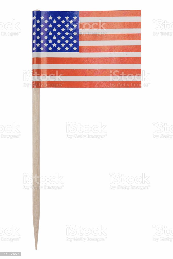American flag toothpick (XL) stock photo