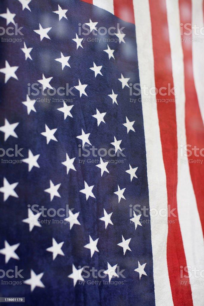American Flag Towel stock photo