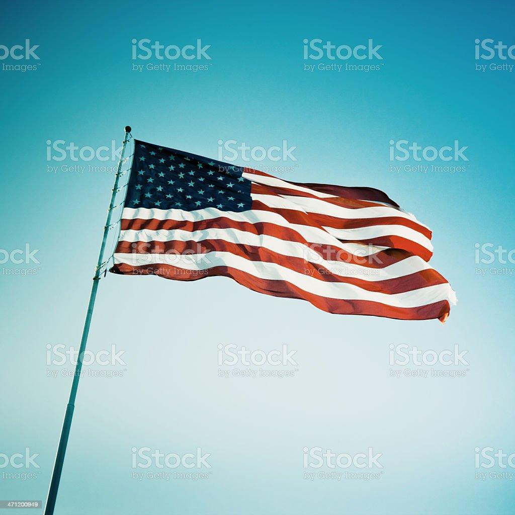 American Flag USA Polaroids Series 20 stock photo