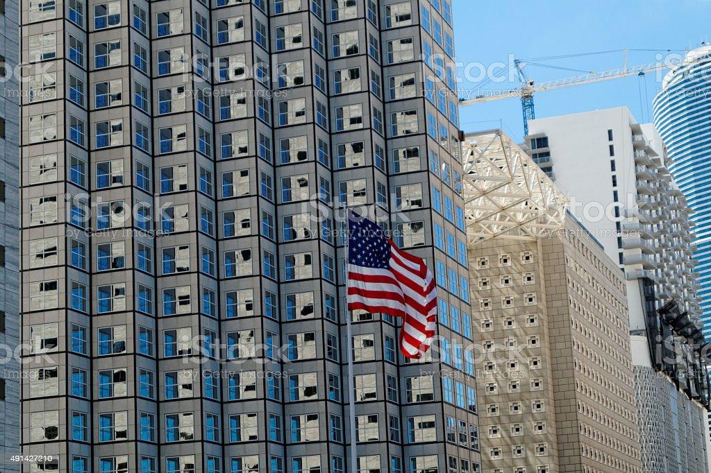 American Flag Waiving stock photo