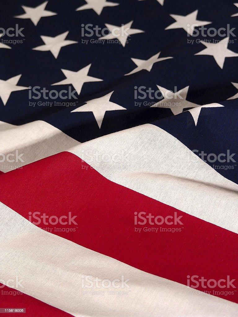 American Flag, Waving royalty-free stock photo
