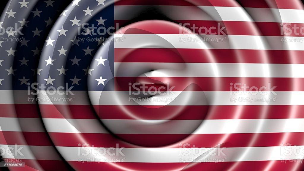 American flag waving - Top view stock photo