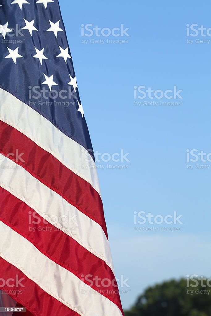 American flag with copyspace stock photo