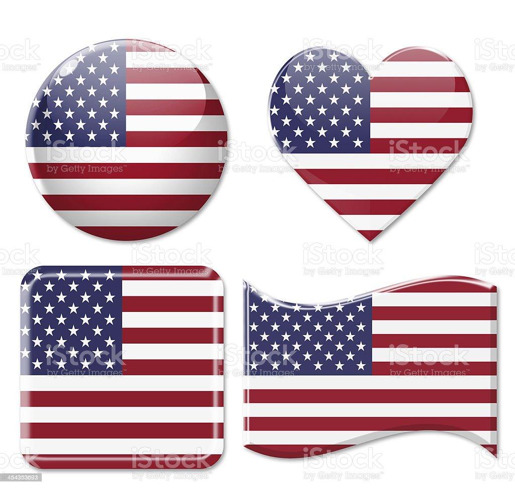 American Flags & Icon Set stock photo