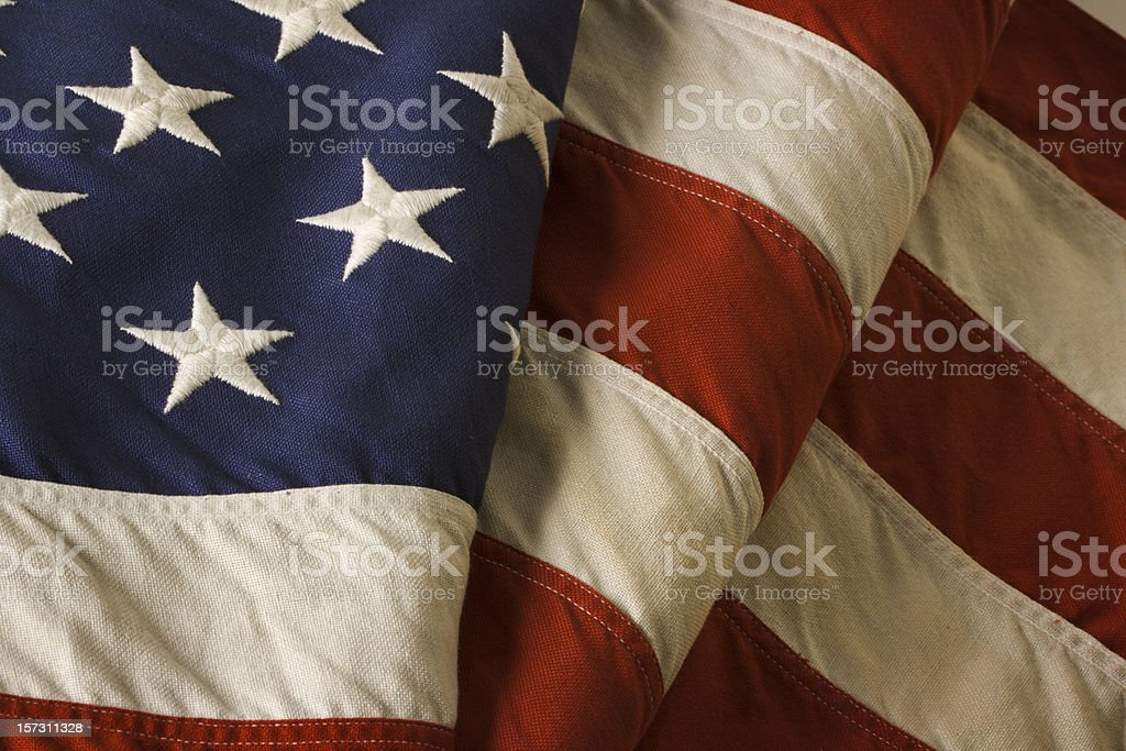 American Flag—USA Old Glory Fourth of July Stars, Stripes royalty-free stock photo