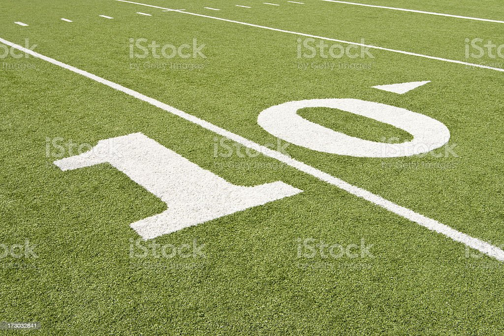 American Football 10 Yard Marker royalty-free stock photo