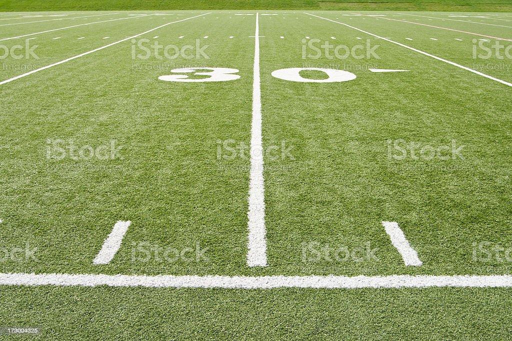 American Football 30 Yard Line royalty-free stock photo