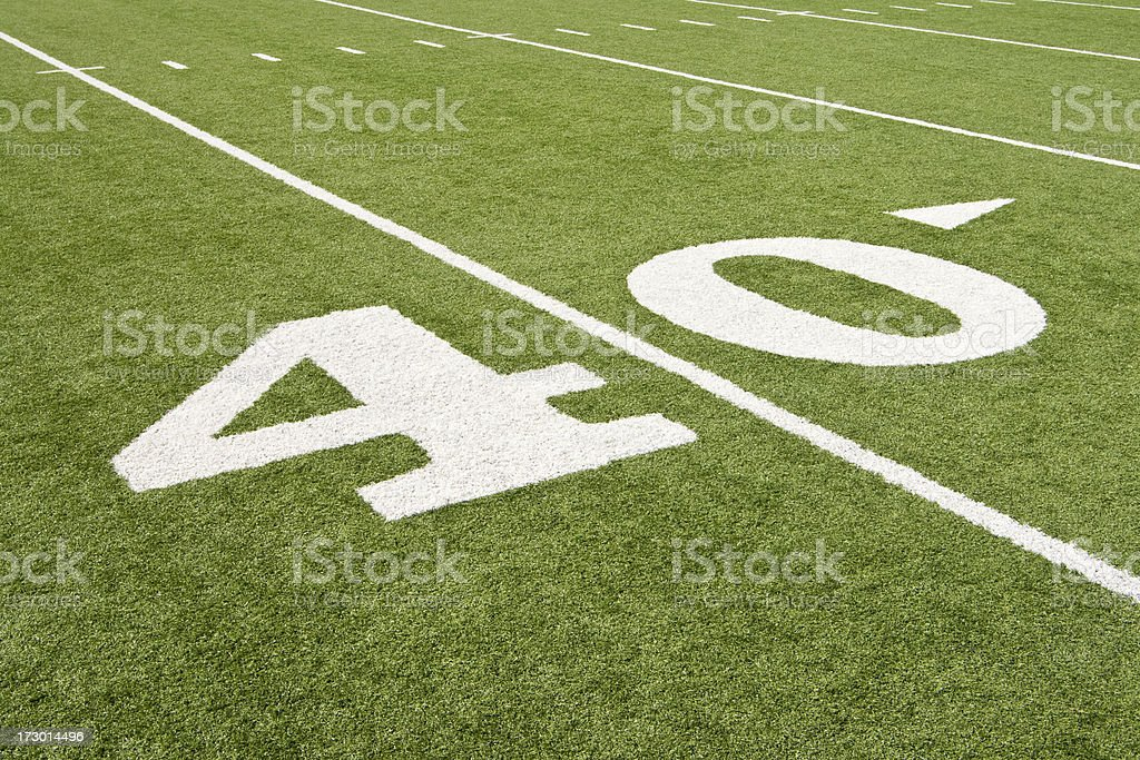 American Football 40 royalty-free stock photo