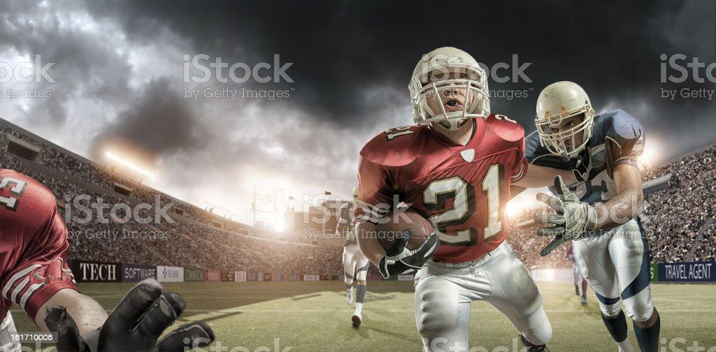 American Football Action stock photo