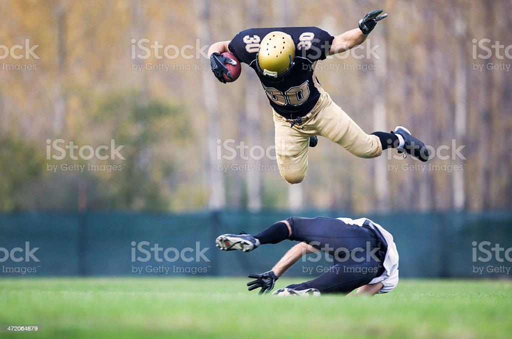 American football action. stock photo
