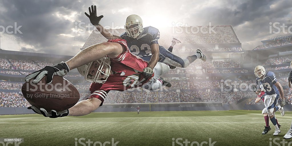 American Football Action stock photo