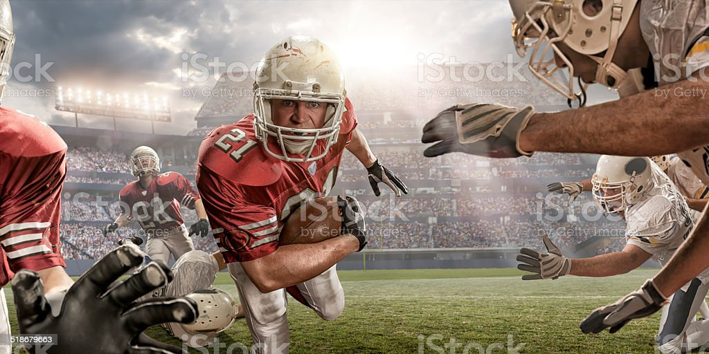 American Football Action royalty-free stock photo