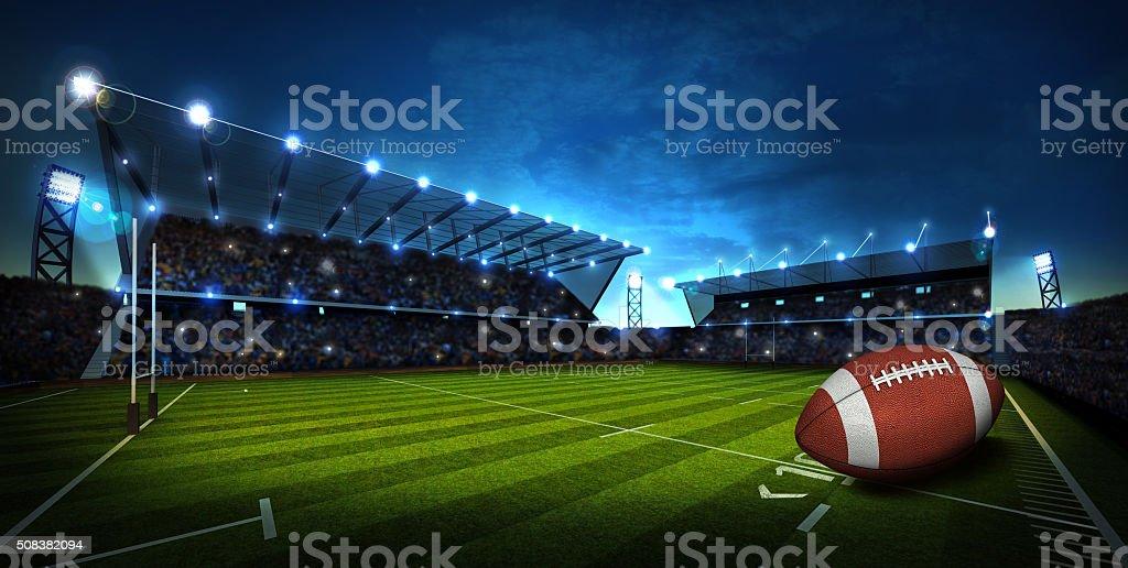 American Football at Stadium. Sport Background stock photo