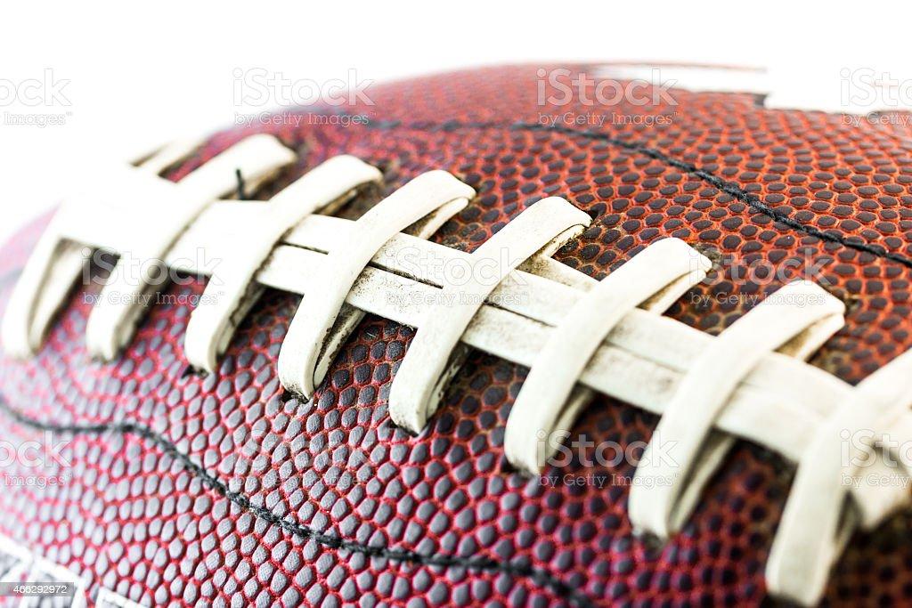 American football ball close up stock photo